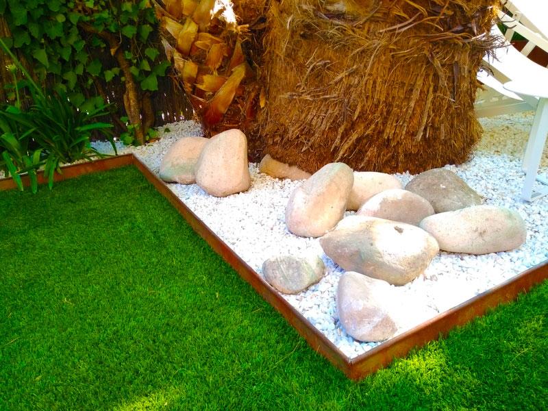 Bordura en Césped artificial para jardín