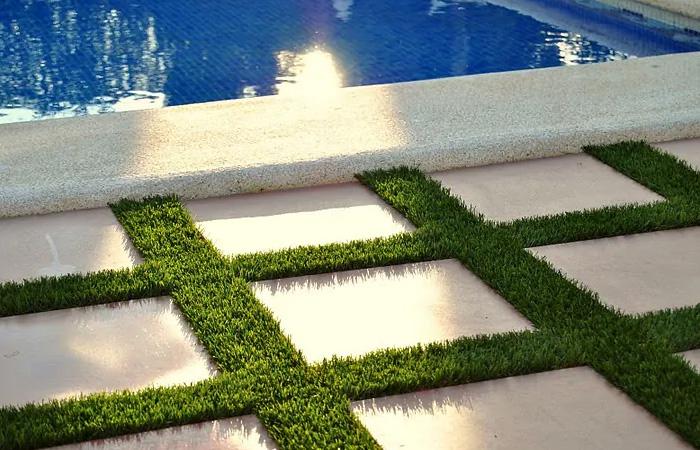 Césped artificial para piscina