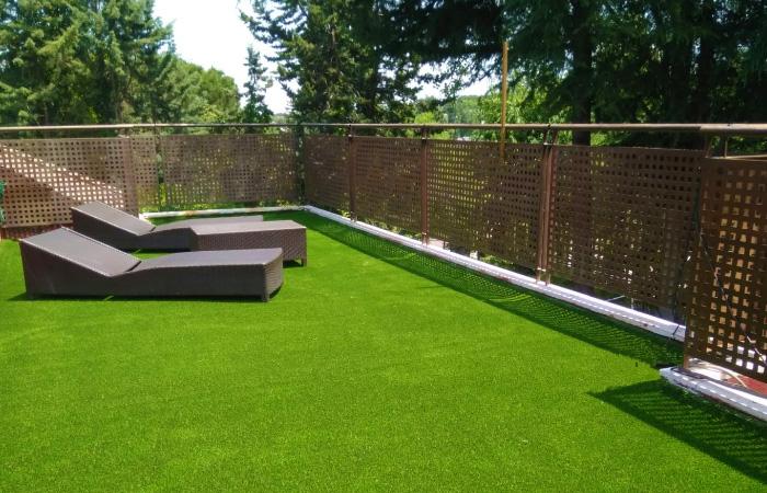 Césped artificial para terraza en La Moraleja
