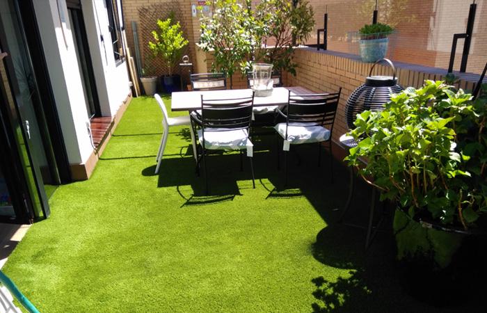 Césped artificial para terraza en Madrid